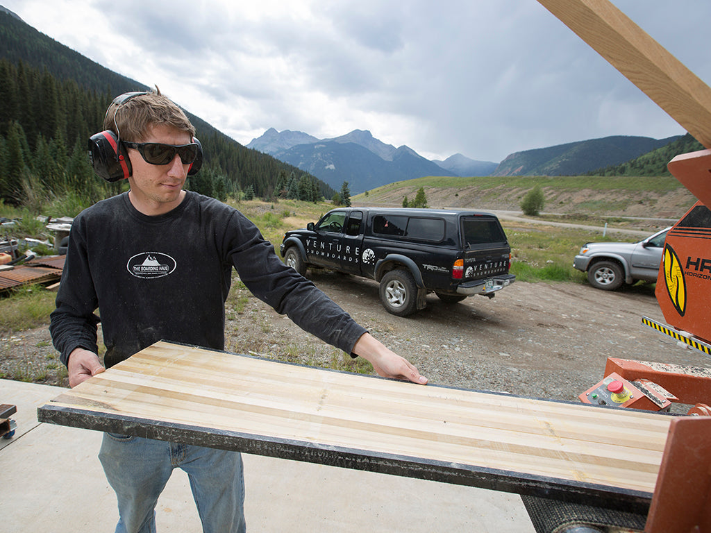 Venture Production Tech Building a Snowboard Core In Silverton Colorado