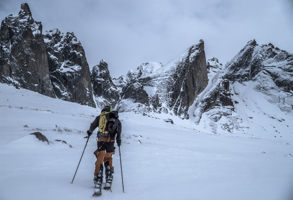 Venture Snowboards Touring In Tombstone Provincial Park