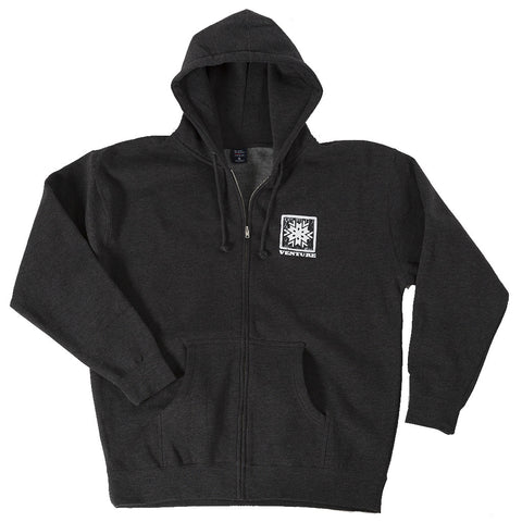 Men's Zip Hoodie - Woodcut Graphic