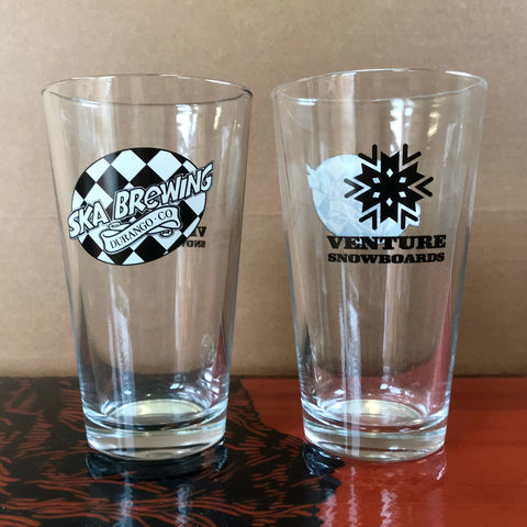 Venture and Ska Brewing Pint Glass