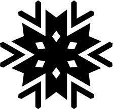 Die Cut Snowflake Sticker
