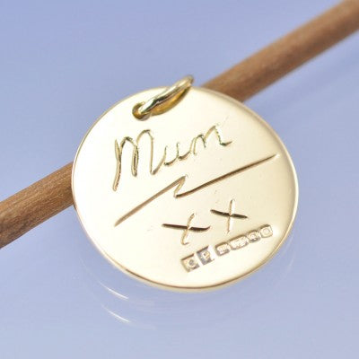 mums handwriting pendant