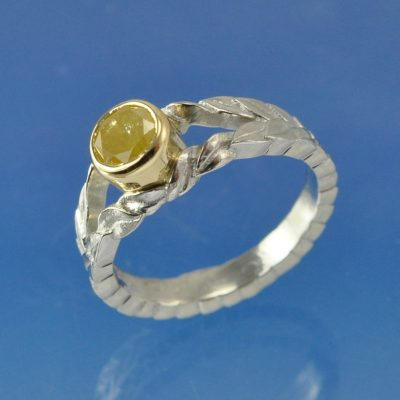 cremation ash ring platinum diamond