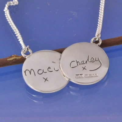 kids handwriting pendant