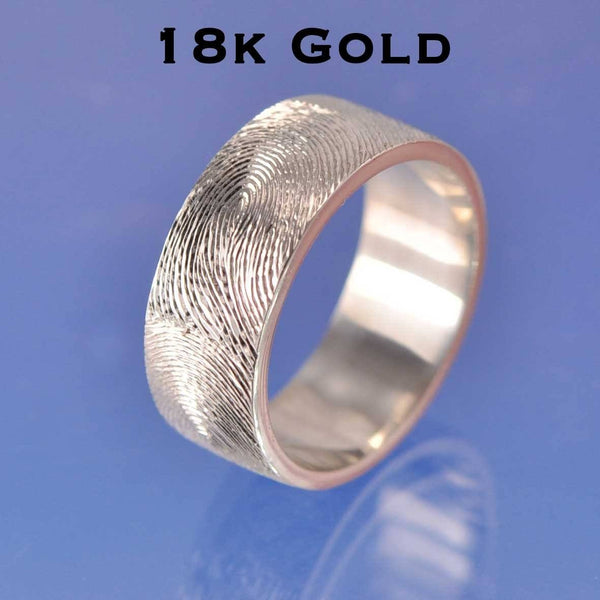 Fingerprint Ring - 18k Gold