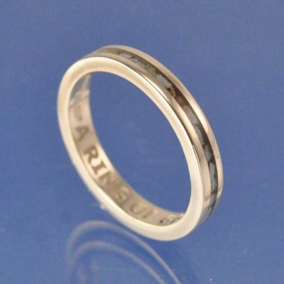 Cremation Ash Ring. 2mm Narrow Channel Set Ring Chris-Parry-Handmade