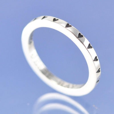cremation ash heart wedding ring