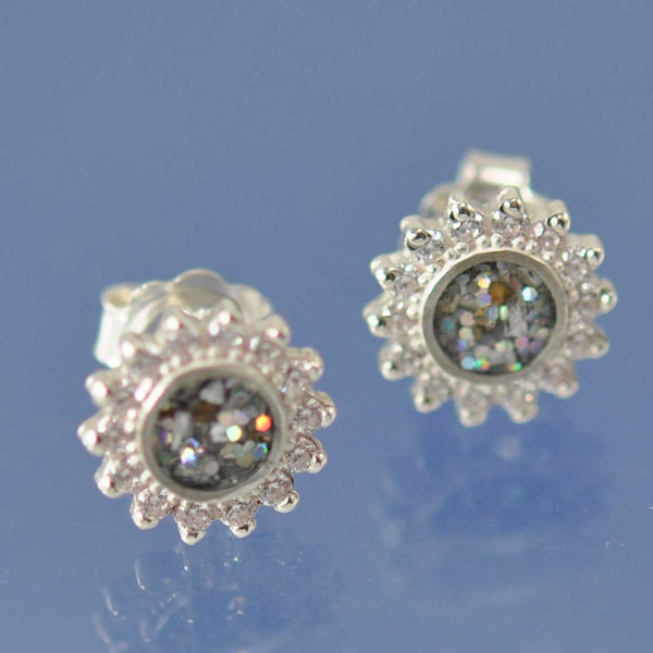 Sparkling Cremation Ash Earrings