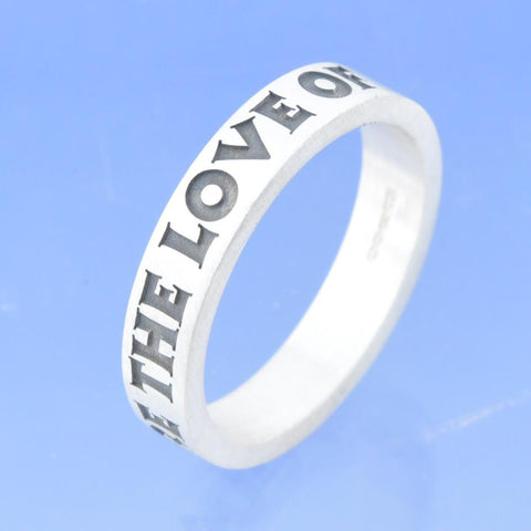 4mm Personalised Flat Ring