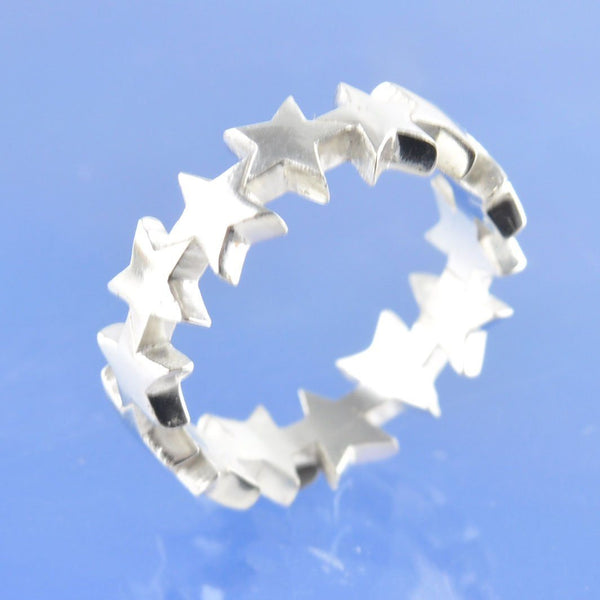 Cremation Ash 6mm String of Stars Ring