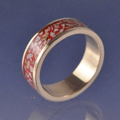 Cremation Ash Ring. 8mm Channel Set