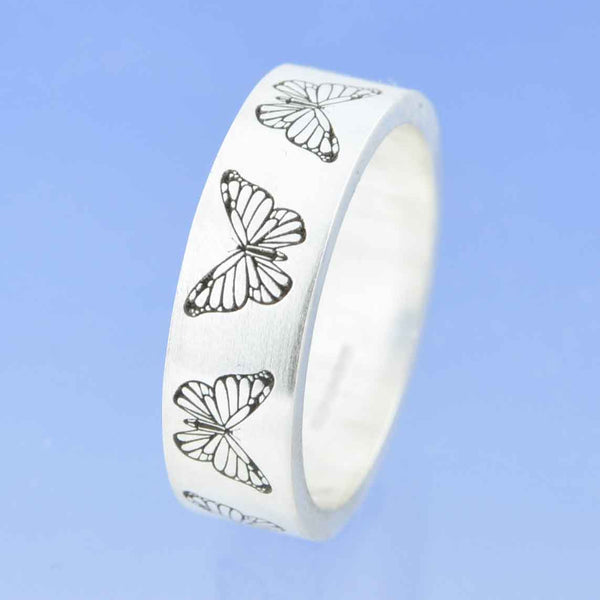 Butterfly Ring with Cremation Ashes