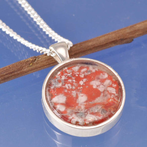 Cremation Ash Glass Round Pendant