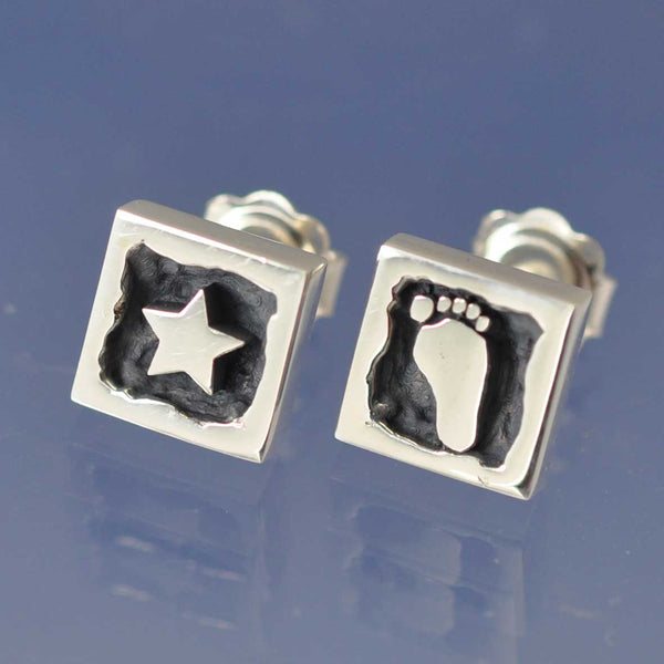 Your Footprint Earrings - Custom