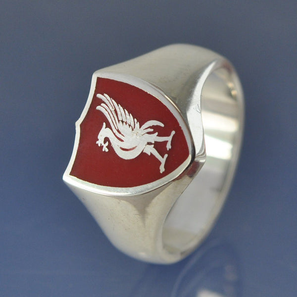 LFC Cremation Ash Signet Ring