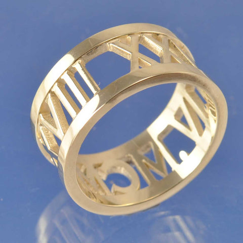 The Wide Copperplate Ring
