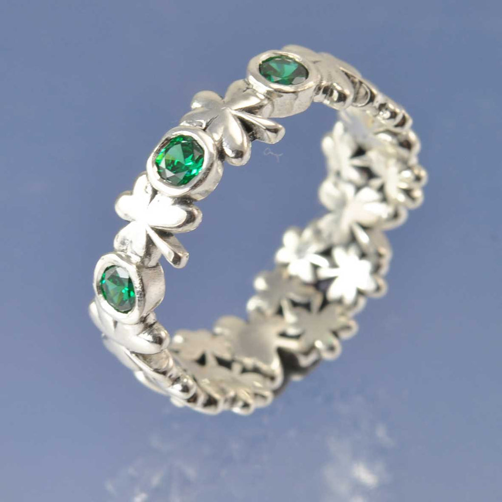 Cremation Ash Shamrock Ring