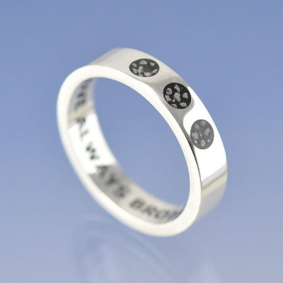 Cremation Ash Ring. 5mm Trio