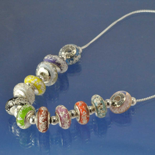 Cremation Ash Bead Necklace