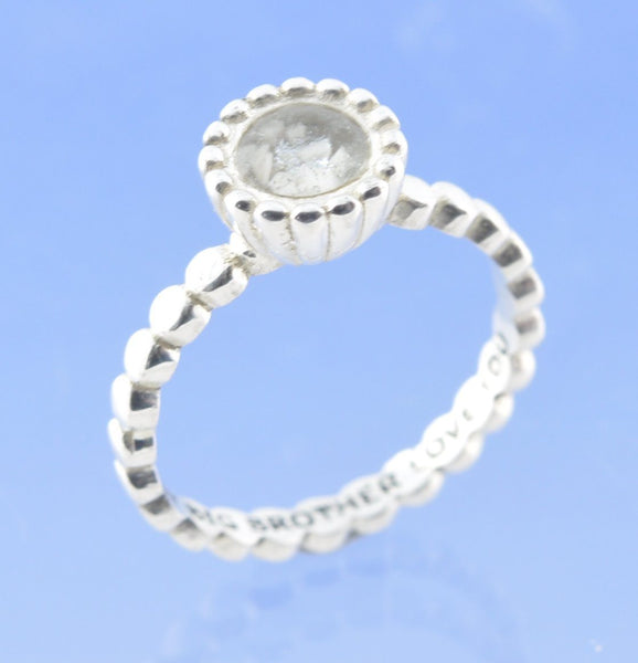 Ball Chain Cremation Ash Stacking Ring