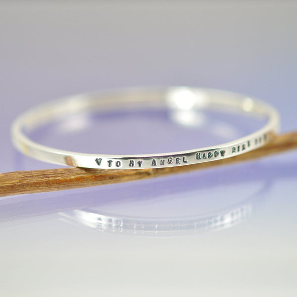 3mm Personalised Bangle