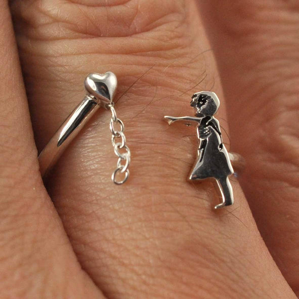 Banksy Balloon Girl Ring