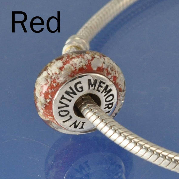Cremation Ash Glass Bead