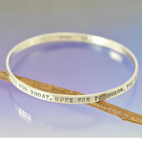 4mm Personalised Bangle