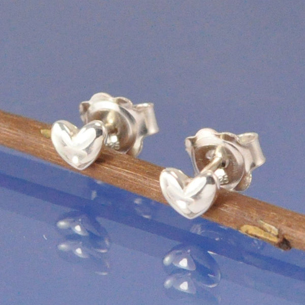 Bulbous Heart Stud Earrings