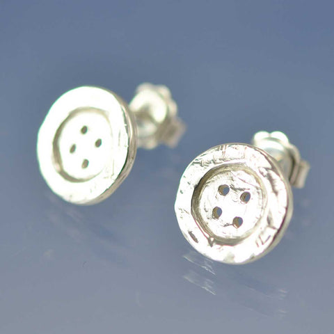 Shabby Chic Button Studs