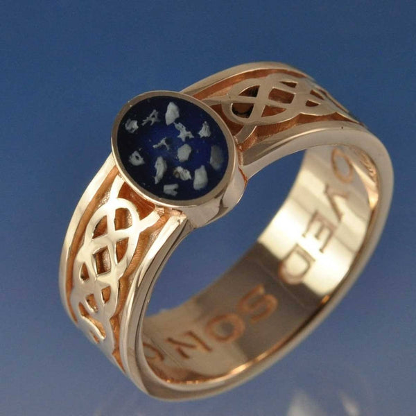 Cremation Ash Celtic Resin Ring