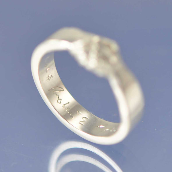 Holding Hands Ring with Cremation Ashes 5mm