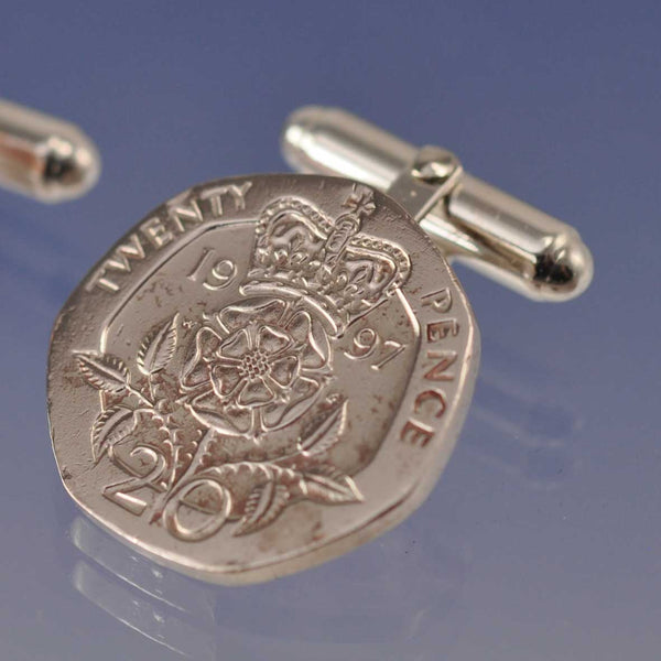 Your Special Date Coins into Cufflinks