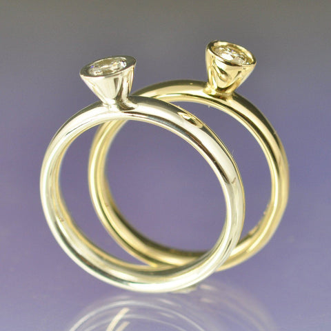 Conical Setting Diamond Ring