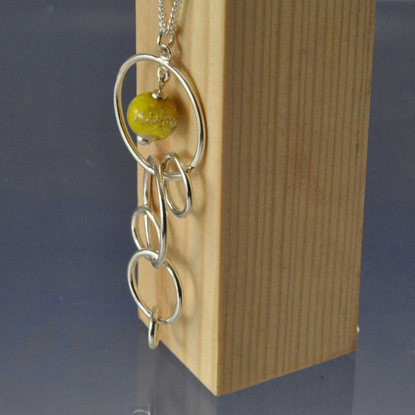 Cremation Ash Glass Bead Circle Necklace