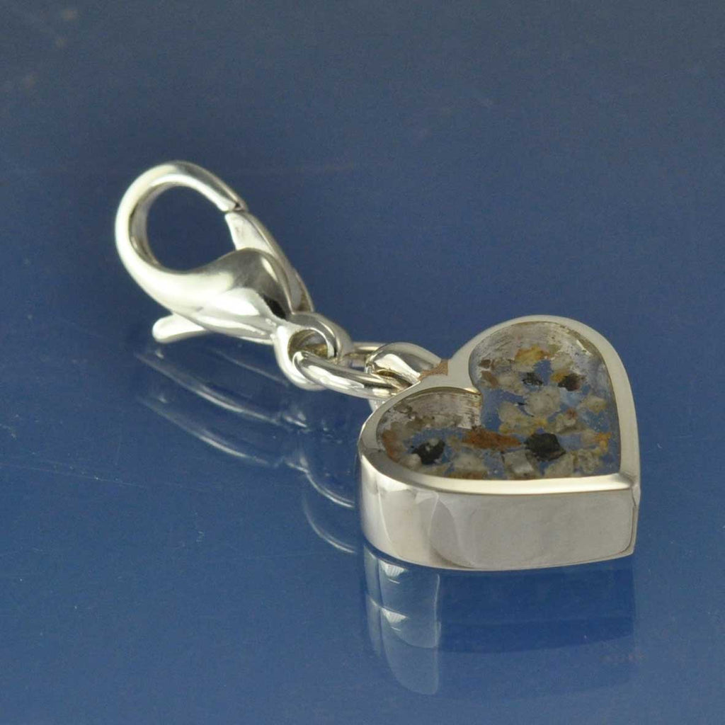 39cabb3d9d971 Cremation Ash Heart Charm WITH CLIP