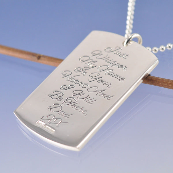 All Metal Cremated Ash Dog Tag