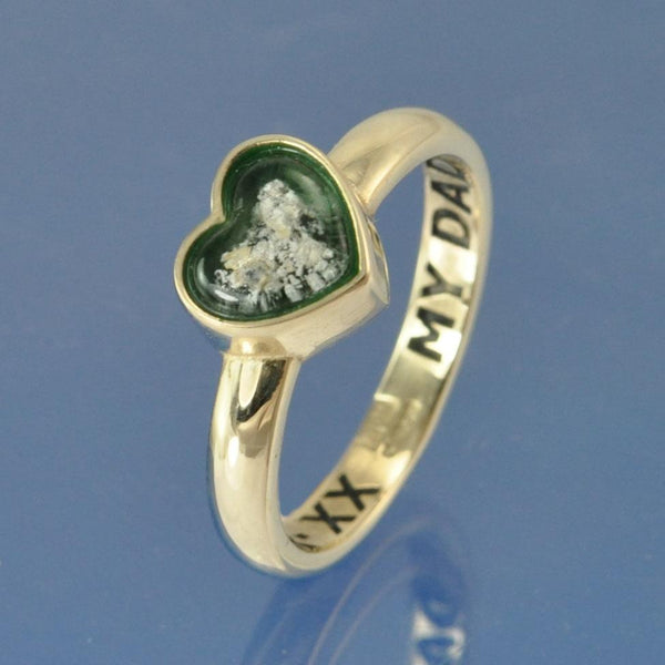 Cremation Ash Heart Ring