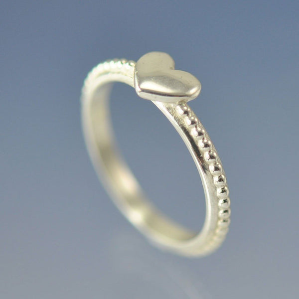 Heart Stacking Ring with Cremation Ashes