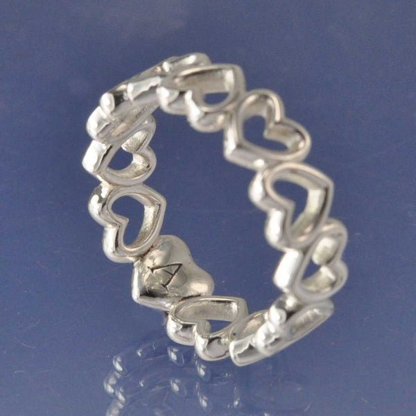 Endless Heart Ring with Cremation Ashes