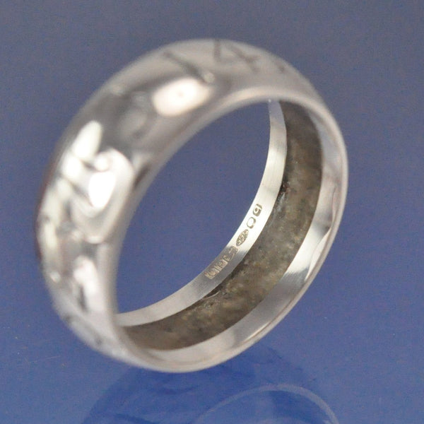 Cremation Ash Ring. Hidden 8mm