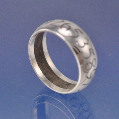 Cremation Ash Ring. Hidden 7mm