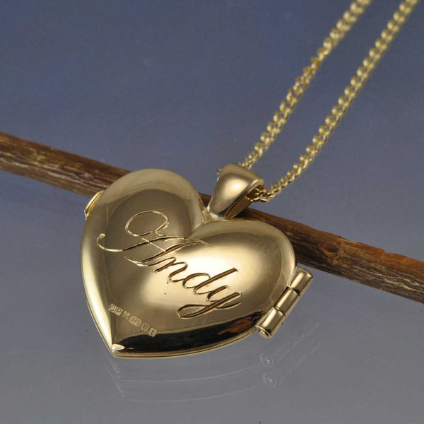 Cremation Ash Heart Locket