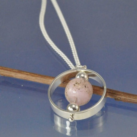 Cremation Ash Glass Bead Protectus Necklace