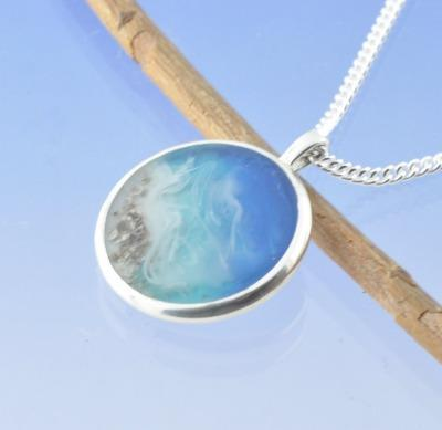 Cremation Ash Necklace -Seashore Idyllic Beach