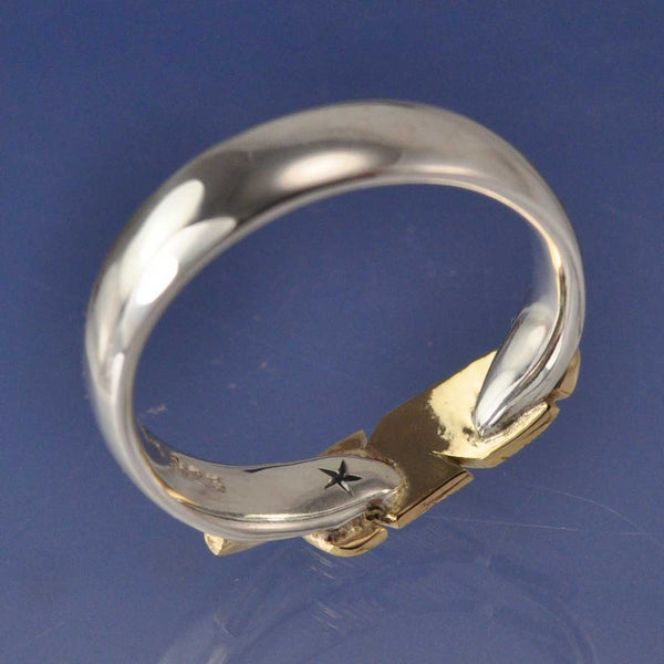 Angel Feather Ring with Cremation Ashes (Two Tone)