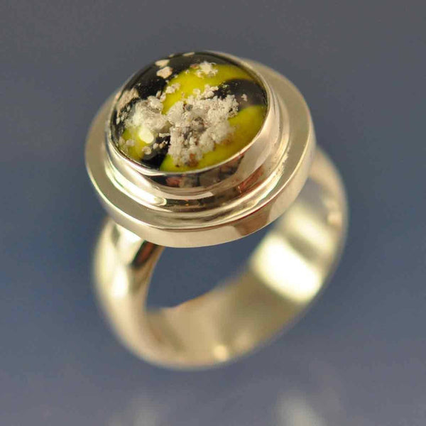 Cremation Ash Glass Dome Ring