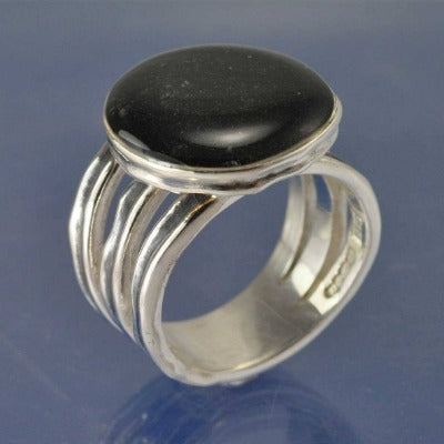 Cremation Ash Rustic Dome Resin Ring