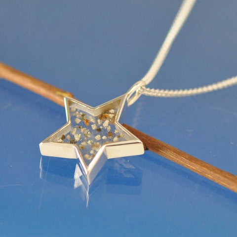 Cremation Ash Star Pendant