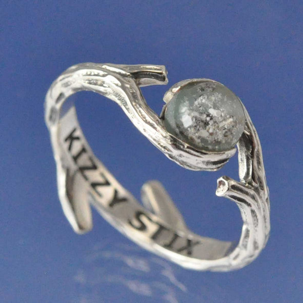 Cremation Ash Crossover Twig Ring
